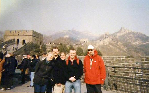 On a tour of the Great Wall, not long after I had first arrived in China
