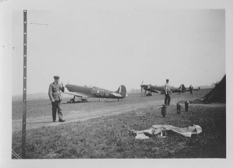 """610 Squadron Spitfires during Battle of Britain """"From the rear. 1940"""""""